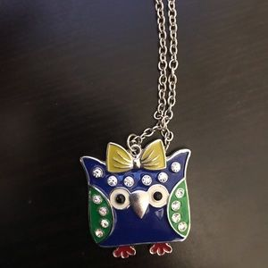 Cute and colorful owl necklace